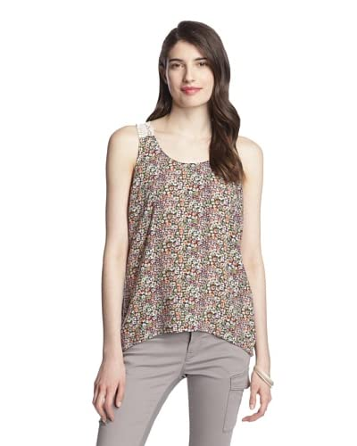 Olive & Oak Women's Floral Tank with Lace Back