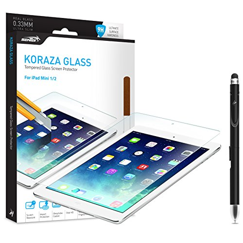 Ipad Mini 1 2 3 Cover Protector Tempered Glass Sentey� Koraza 9h Lozenge 0.33 Mm Bundle with Free Metal Stylus Caress Screen Pen {Lifetime Warranty} Ls-11111 iPad Mini iPad Mini 2 and New Apple iPad Mini with Retina expose