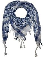 Freak Scene® Foulard palestinien/keffieh en coton - couleur de base blanche - 100 x 100 cm - Large palette de couleurs!