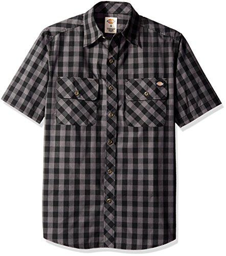 dickies-mens-short-sleeve-buffalo-plaid-shirt-black-charcoal-large
