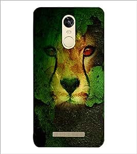 PrintDhaba Leopard D-4833 Back Case Cover for XIAOMI REDMI NOTE 3 (MEDIATEK) (Multi-Coloured)