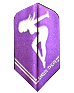Buy 3 Sets #3467 AmeriThon Purple Silver Chrome Girl Dart Flights by Amerithon Flights