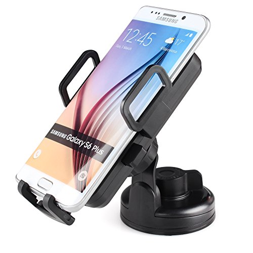 iDoo Qi Car Mount Wireless Charger Vehicle Dock with Suction Cup for All Qi-Enabled Phones