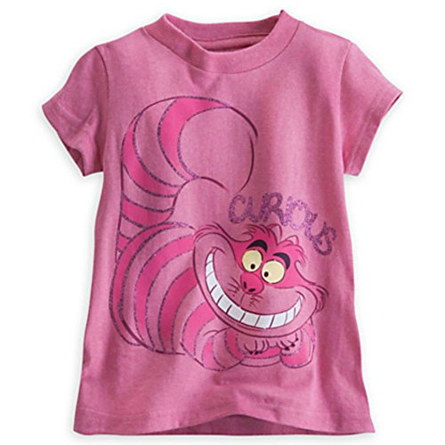 Disney Cheshire Cat Curious Alice in Wonderland Tee for Girls