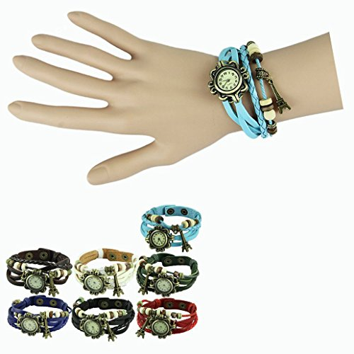 Cxb1983 Best Seller Nostalgic Vintage Watches Bracelet Weave With Eiffel Towel Pendant Accessories