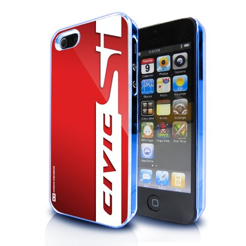 Honda Civic Si Red Stripe Apple Iphone 5 Led Light Clear Cell Phone Case