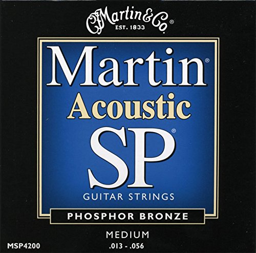 Martin MSP4200 SP Phosphor Bronze Acoustic Guitar Strings, Medium (Cf Martin Strings compare prices)