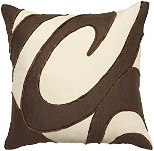 Surya WL1404-1818D Wellington 18 in. x 18 in. Down Filled Decorative Pillow - Ecru