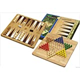 Backgammon and Chinese Checkers Combi. Bamboo.by Elysium Enterprises