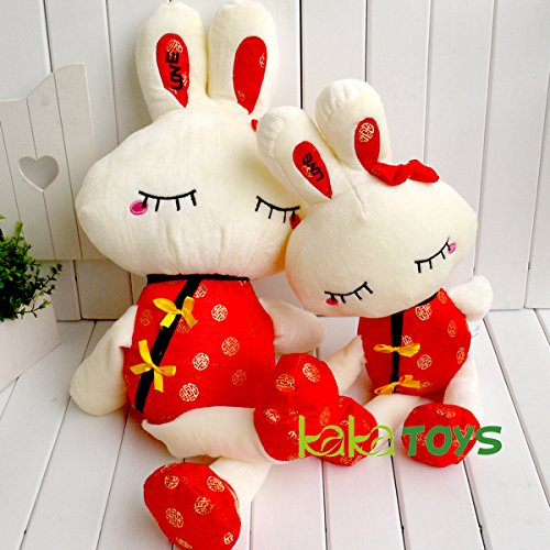 Kaka Toys 1 Pcs Toys Cute & Lovely Bedtime Plush Animal /Huge Plush Toy Soft Doll,the Best Gift for Kids/children/girlfriend, Soft Stuffed Plush Toy- Rabbit Wearing Tang Suit,19.7 Inch / 50cm