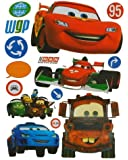 15 tlg. Set XL Sticker / Aufkleber Kinder - Disney Cars Auto Lightning Mc Queen - Wasserfest Sticker