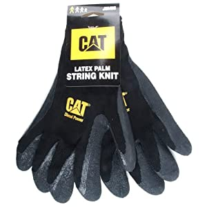 Cat gloves cat017400j cotton latex coated palm gloves x for Gardening gloves amazon