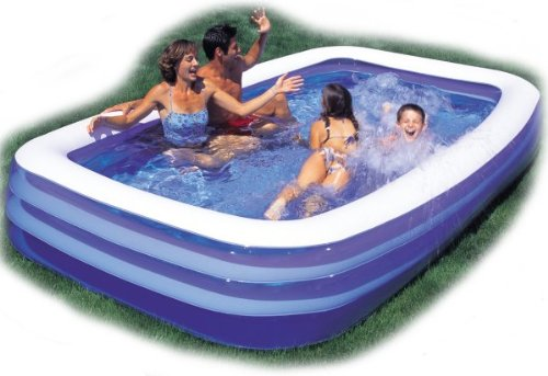 sportcraft aqua wave ii inflatable water slide pool slidesrectangular swimming pool 120 x seventy two x twenty two images - Rectangle Inflatable Pool