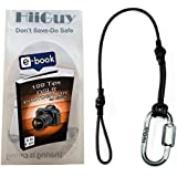 HiiGuy Camera Strap Safety Tether- Canon Camera Strap-Nikon Camera Strap With Quick Release Clip For DSLR-3mm Rope- 1 Year Warranty