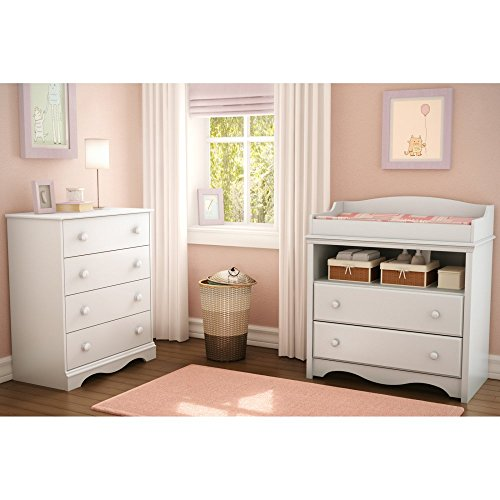 South-Shore-Heavenly-Changing-Table-and-4-Drawer-Chest-Set