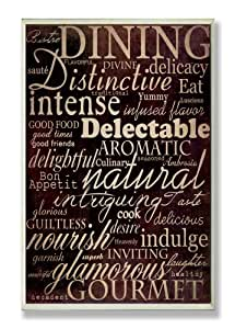 The stupell home decor collection dining words for Dining room wall art amazon