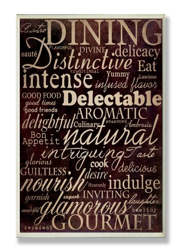 Stupell Home Decor Collection Dining Words Black Kitchen Wall Plaque