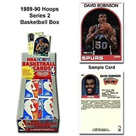 1 (One) Box of 1989-90 NBA Hoops Series 2 Basketball Cards Wax (36 Packs Per Box)
