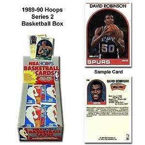 1 (One) Box of 1989-90 NBA Hoops Series 2 Basketball Cards Wax (36 Packs Per Box)