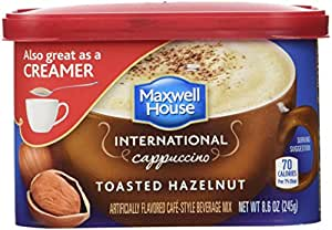 Maxwell House International Coffee Toasted Hazelnut Cappuccino, 8.6-Ounce Tins (Pack of 4)
