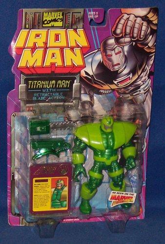 "MARVEL ""TITANIUM MAN w/ RETRACTABLE BLADE ACTION"" IRONMAN SERIES"