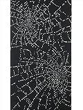 メンズ浴衣反物 キング巾 No.591  蜘蛛の巣柄・黒地