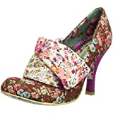 Irregular Choice Flick Flack Pink White Floral Womens Hi Heel Court Shoes Boots