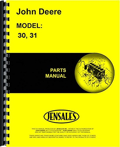 John Deere 30 31 Rotary Tiller Parts Manual (JD-P-PC953)
