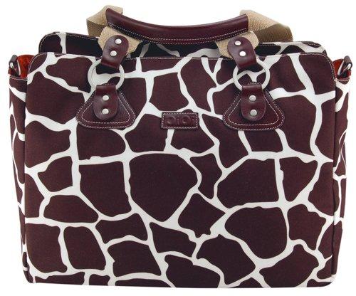 OiOi Giraffe Print Tote Nappy Bag (Cocoa)