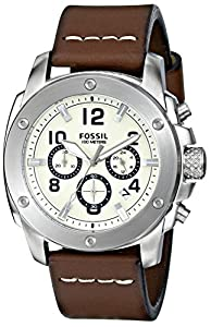 Fossil Men's FS4929 Analog Display Quartz Brown Watch