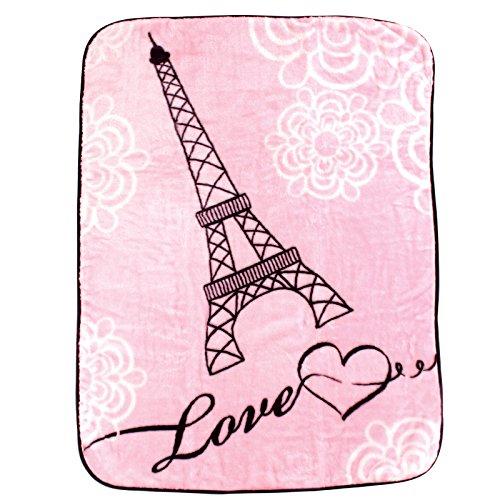 Luvable Friends Character High Pile Blanket, Paris (Car Seat Cover Paris compare prices)