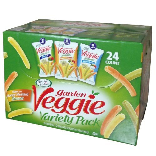 Sensible Portions Sensible Portions Garden Veggie Snack Straws Shape Chips Variety Pack 24 Coun