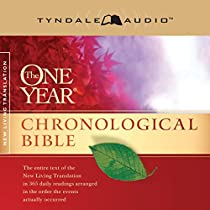 The One Year Chronological Bible Nlt Audiobook Tyndale border=