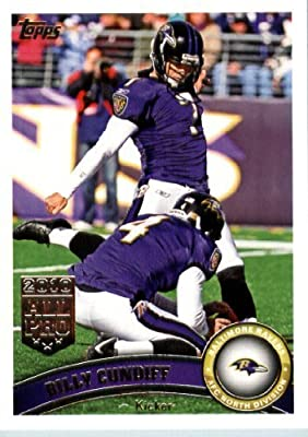 2011 Topps Football Card #65 Billy Cundiff - Baltimore Ravens - NFL Trading Card