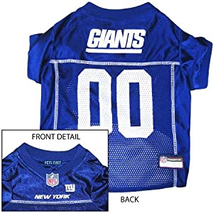 New York Giants Dog Jersey Leash & Collar Set Large by Miage Pet Products