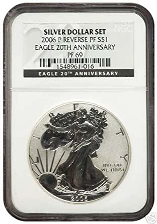 2006 P NGC PF 69 Reverse Proof Silver Eagle