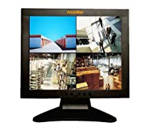 AccuView NS170 17 INCH CCTV Security LCD Monitor BNC LOOP THROUGH NTSC / PAL