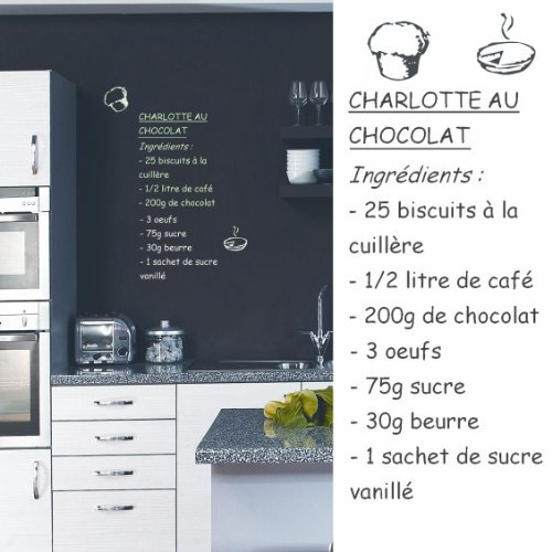 Sticker mural Charlotte au chocolat (sticker blanc)