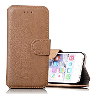 Iphone 6 Plus/6s Plus Case, [Wallet Case] Premium Wallet Case with Stand Flip Cover for Apple Iphone 6 Plus/6s Plus (Light Brown)