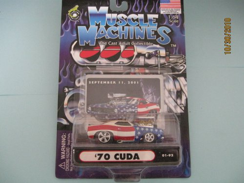 Muscle Machines 70 Cuda with Scoop September 11 Card - 1