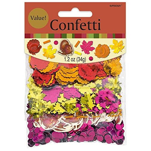 Thanksgiving Foil Paper Value Pack Confetti Mix of 3 Styles