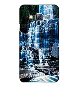 PrintDhaba WaterFall D-1129 Back Case Cover for SAMSUNG GALAXY A3 (Multi-Coloured)