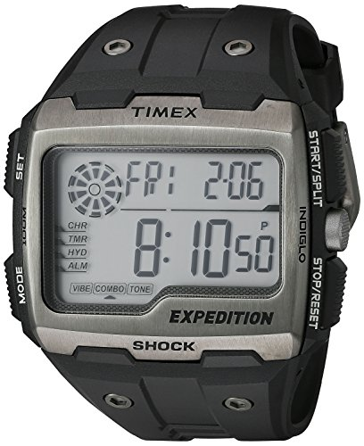 Timex Men's TW4B02500 Expedition Grid Shock Black Resin Strap Watch (Timex Digital Analog compare prices)