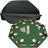 Trademark Deluxe Poker and Blackjack Table Top with Case