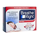 Breathe Right Extra Strong Nasal Strips One Size Fits All, Tan (44 ct)