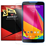 Klear Cut [3 Pack] - Screen Protector for BLU Studio 7.0 - Lifetime Replacement Warranty - Anti-Bubble & Anti-Fingerprint High Definition (HD) Clear Premium PET Cover - Retail Packaging
