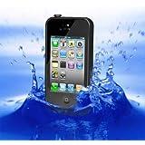【全10色】iphone4/iphone4s対応ケース 生活防水、防塵、耐衝撃アイフォン4ケース カバー (ブラック)
