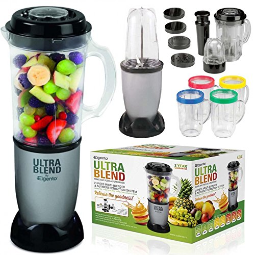21pc Multi Blender Chopper Processor Fruits Juicer Smoothie Maker Mixer Elgento