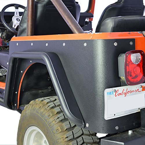E-Autogrilles Jeep CJ7 Corner Rocker Guard and CJ Rear Fender Flare Combo