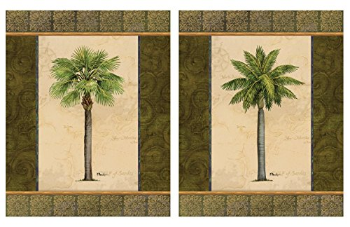 2-East-Indies-Palm-Tree-Art-Prints-Tropical-Home-Decor-8x10